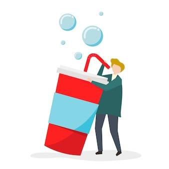 甘い飲み物と砂糖に中毒