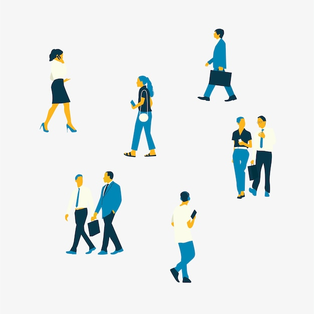 Иллюстрированные люди, имеющие различные виды карьеры