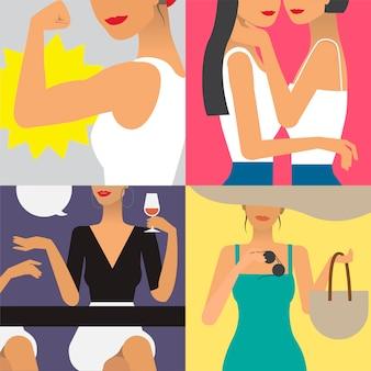 Символьная иллюстрация жизни женщины