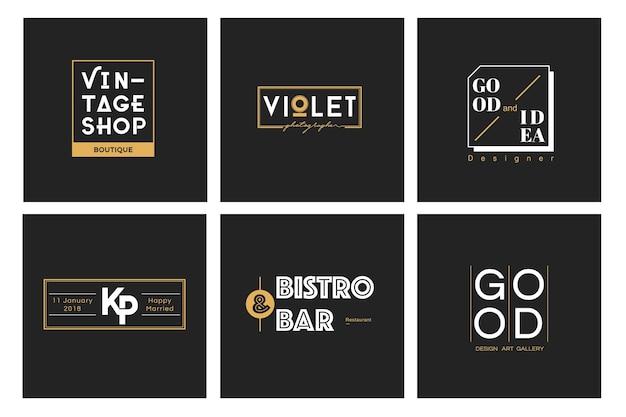Иллюстрация бизнес-магазина логотип печать баннер