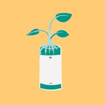 持続可能な環境の手描きイラストセット