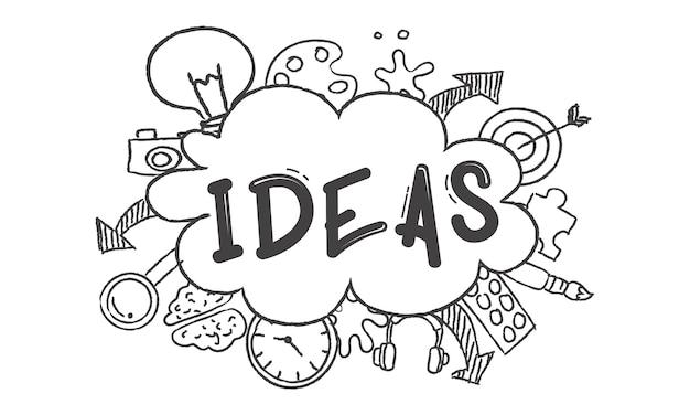 電球のアイデアのイラスト