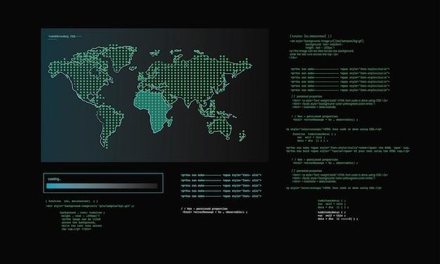 コンピュータハッキングコードの図