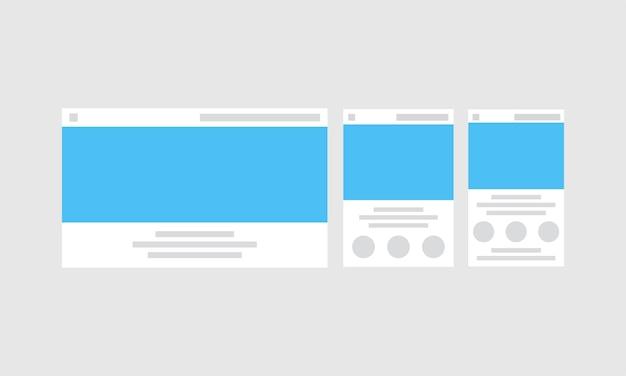 Иллюстрация шаблона веб-дизайна