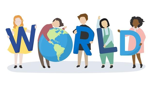 世界と環境を気にする人々