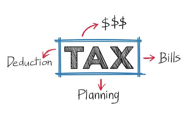 税金と請求書のイラスト