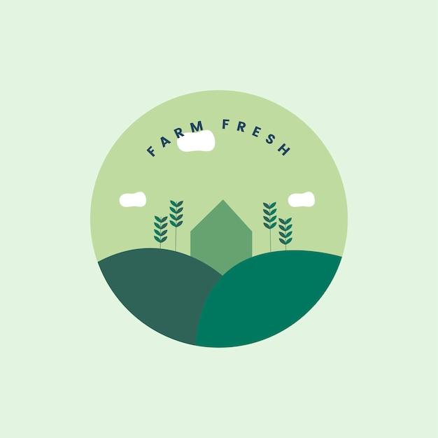 Ферма свежий и органический значок
