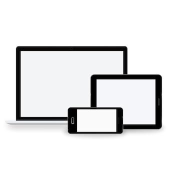 テクノロジーデジタルデバイスのアイコンのベクトルの概念
