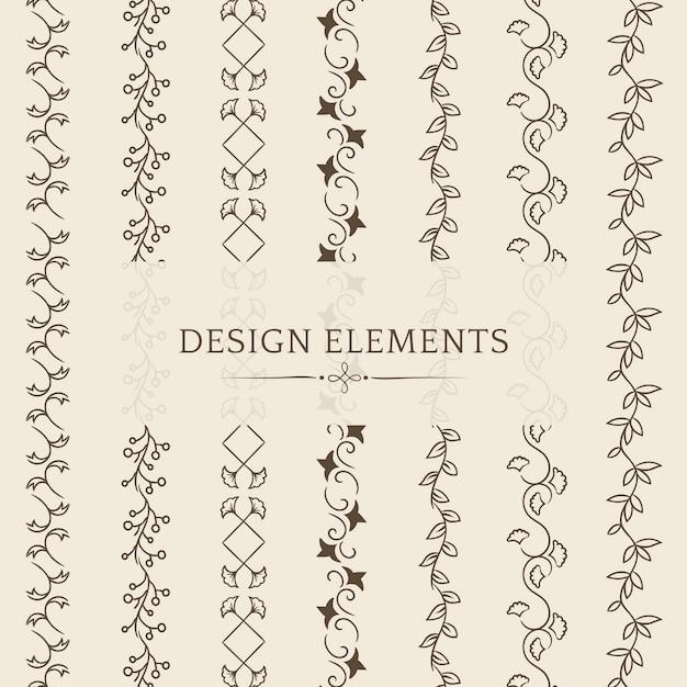 仕切りの設計要素ベクトルのコレクション