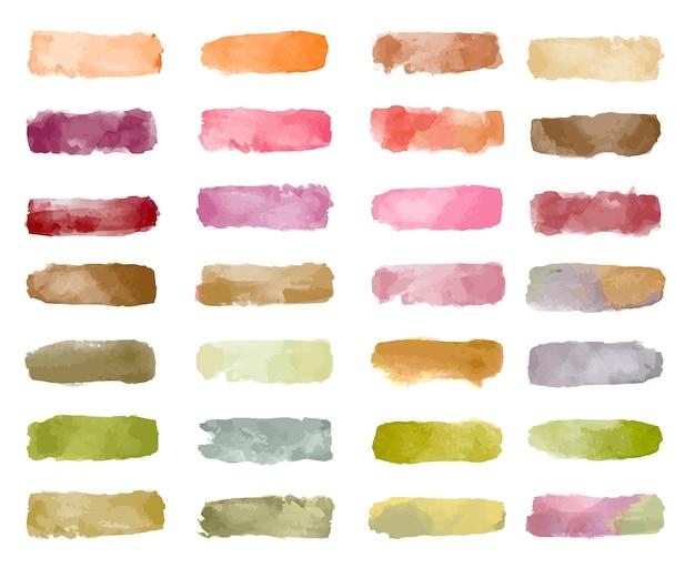 カラフルな水彩パッチの背景ベクトル