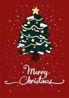 クリスマスグリーティングカードベクトル