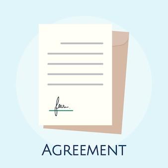 ビジネス合意コンセプトのイラスト