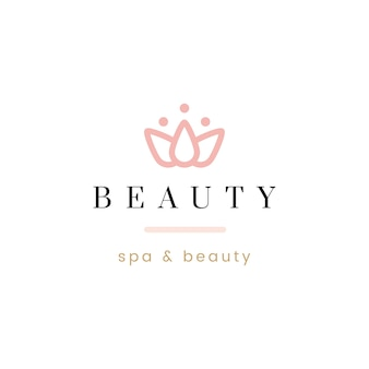 美容とスパのロゴベクトル