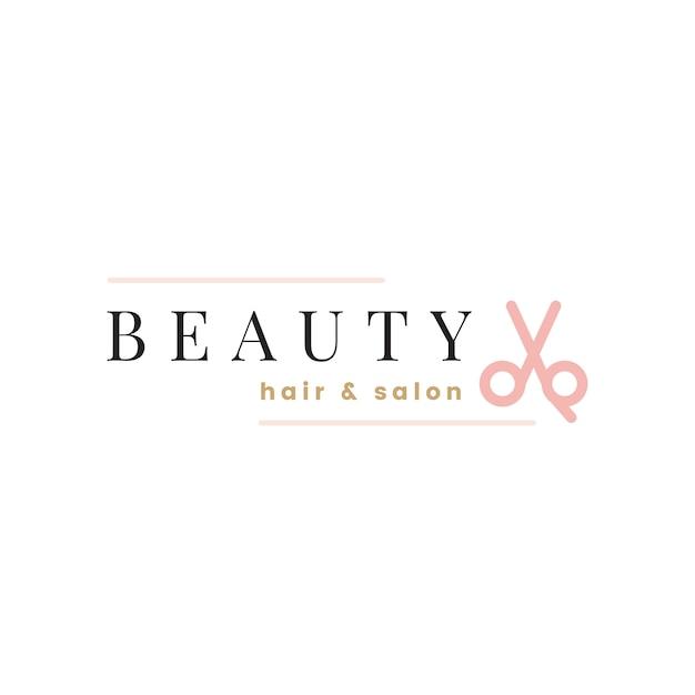 美容院のロゴデザインベクトル
