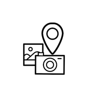 カメラアイコンのイラスト