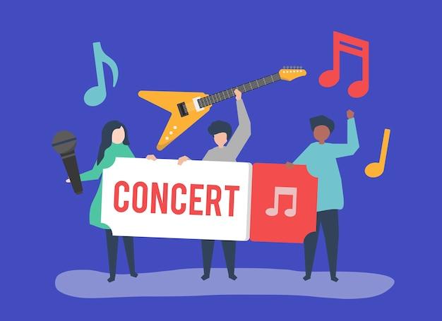 ライブ音楽を演奏するバンド