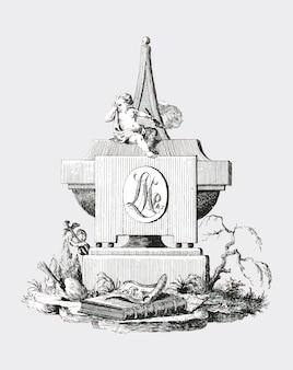 Надгробный камень с траурным ангелом