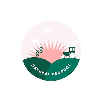Логотип органического натурального продукта