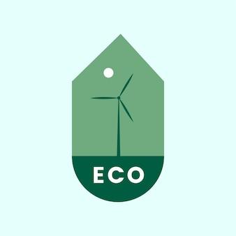 Экологичный значок альтернативной энергии