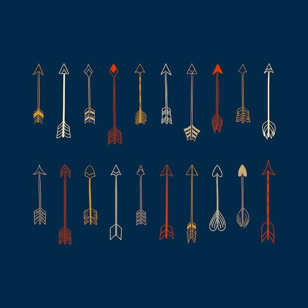 ディバイダ線のデザイン要素のベクトルコレクション