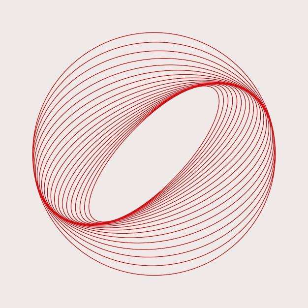 Абстрактный вектор кругового геометрического элемента