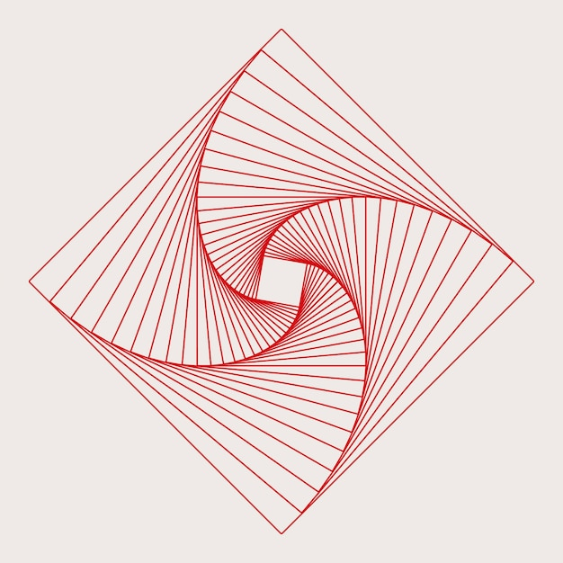 抽象的な正方形の幾何要素ベクトル
