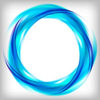 青で抽象的なロゴデザイン