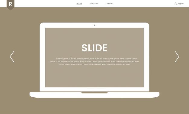 ウェブデザインのためのウェブサイト要素のベクトル