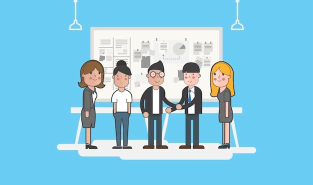 Иллюстрация аватара деловых людей