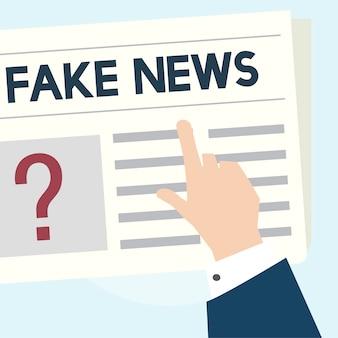 偽のニュースコンセプトのイラスト