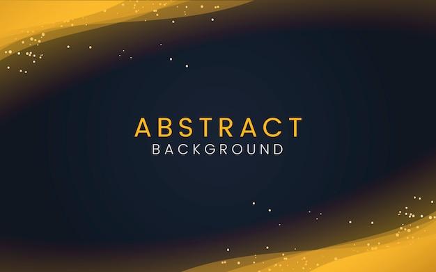 装飾的な金色の輝きの粒子と抽象的な壁紙