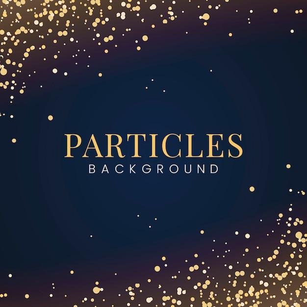 装飾的な金色の光沢のある粒子のある最小の壁紙