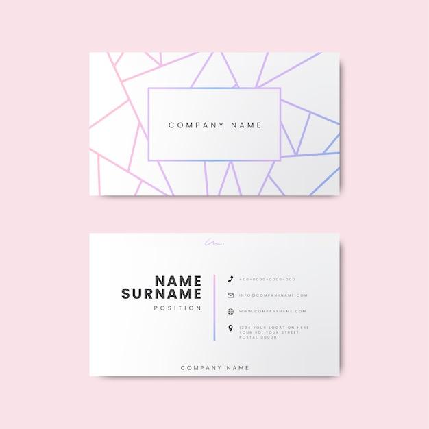 Творческий минимальный и современный дизайн визитной карточки с геометрическими фигурами