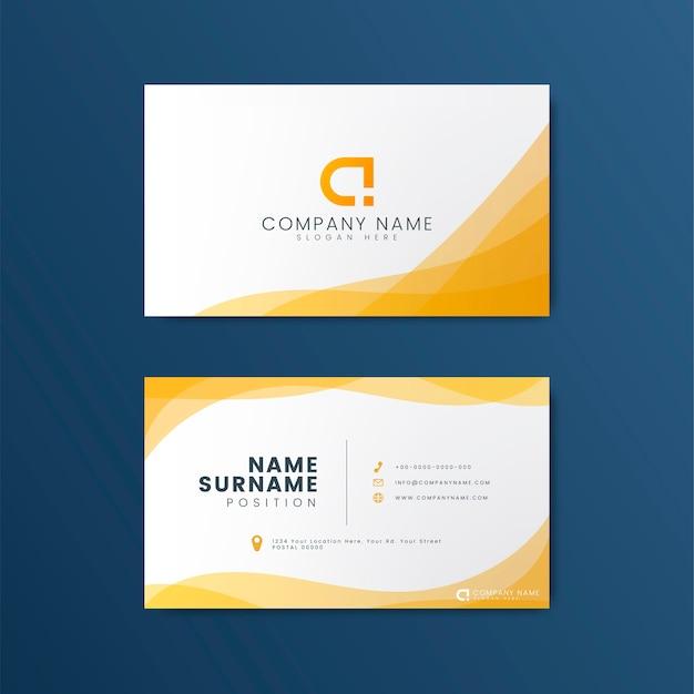 Дизайн современной геометрической визитки