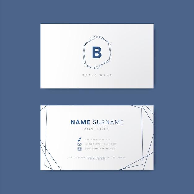 Минимальный дизайн визитной карточки с геометрическими формами