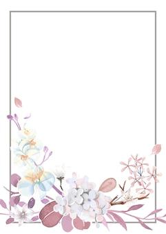 Фиолетовая и розовая поздравительная открытка