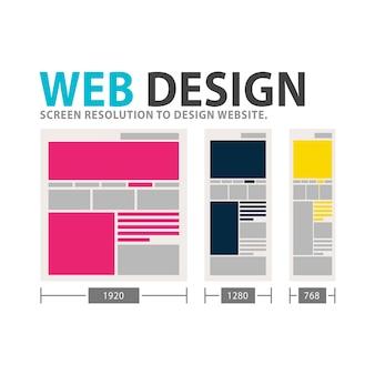 ウェブデザインテンプレートのイラスト