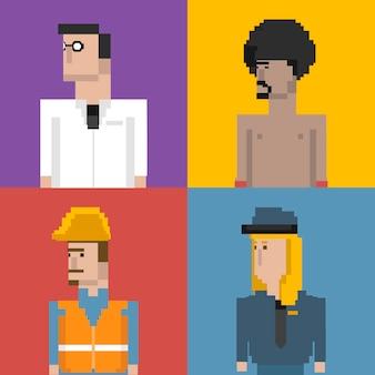 男性と職業のベクトルセット
