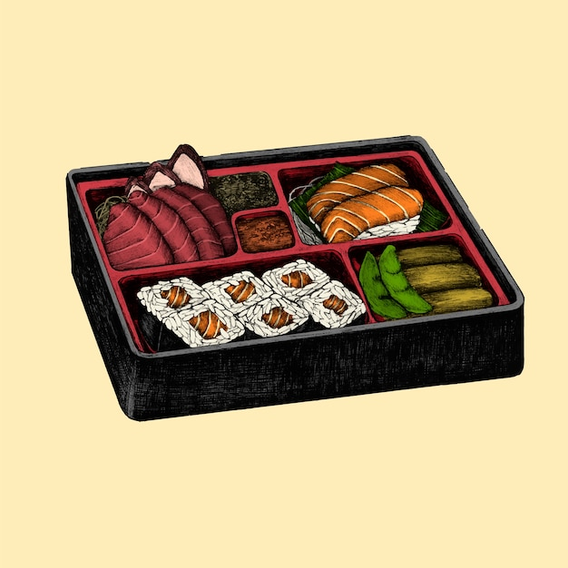 Иллюстрация японского блюда
