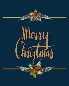 メリークリスマスカードベクトル