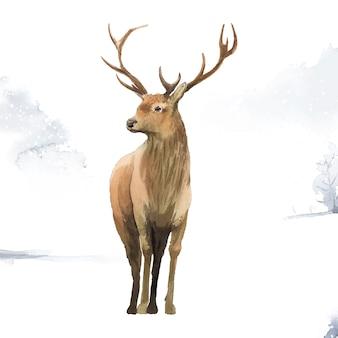 水色のベクトルで描かれた男性の鹿