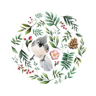タフテッドティンマウスの鳥