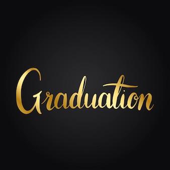 卒業コンセプトタイポグラフィスタイルベクトル
