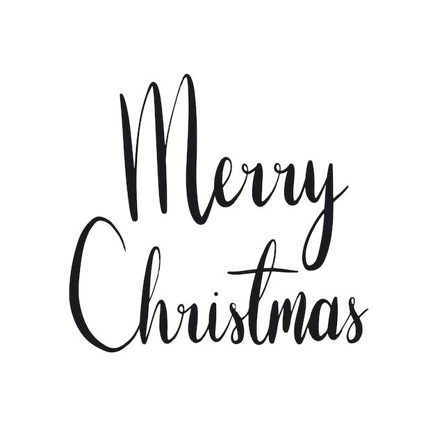 メリークリスマスのタイポグラフィスタイルベクトル