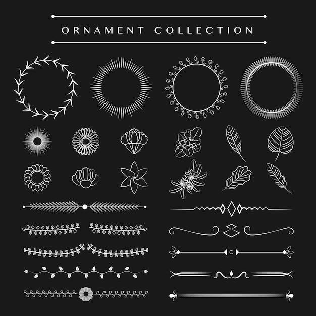 Концепция векторного дизайна коллекции орнаментов