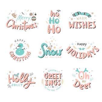 Рождественские значки