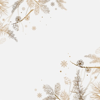 Белый фон с зимним украшением вектора