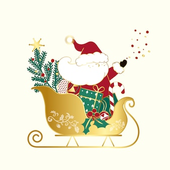 Санта-клаус рождественский дизайн-вектор