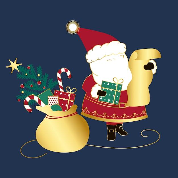 サンタクロースクリスマスデザインベクトル
