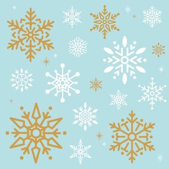Снежинка рождественский дизайн фона вектор